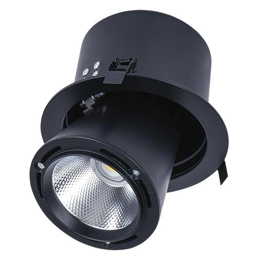 Lighting Fixture DOWNLIGHT LED LS-DK908 40W BLACK 5700K