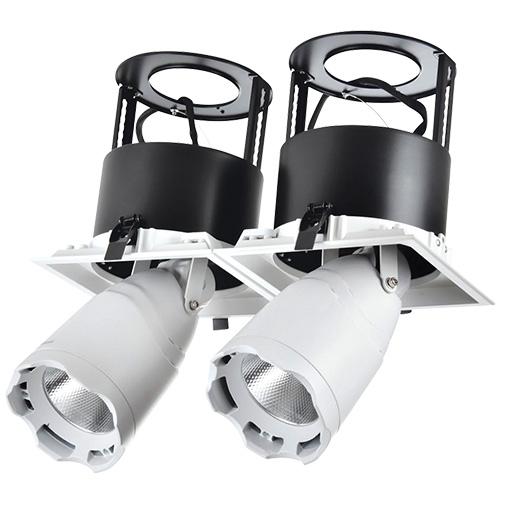 Lighting Fixture DL LED LS-DK914-2x40W WHITE 5700K4sh