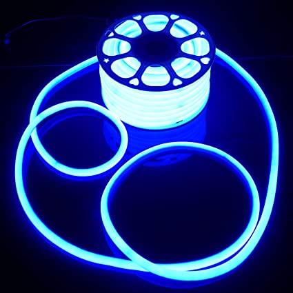 LED Strip Neon Light  Blue SOFT 6W/M 220V IP65100 Min 5M