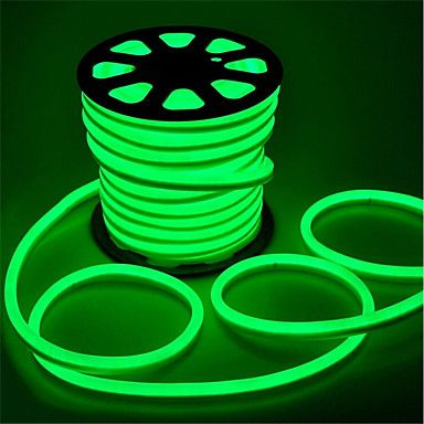 LED Strip Neon Light  GREEN SOFT 6W/M 220V IP65100 Min 5M