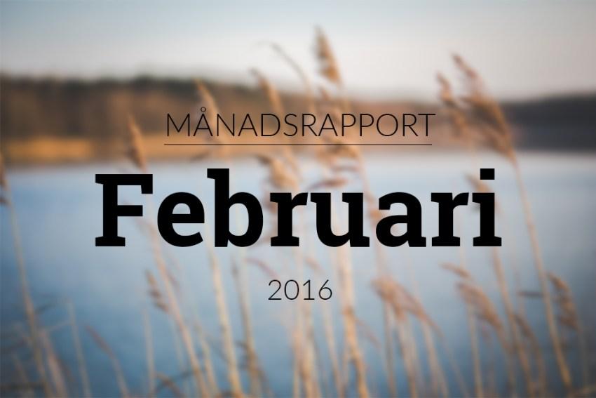 månadsrapport februari 2016 statistik