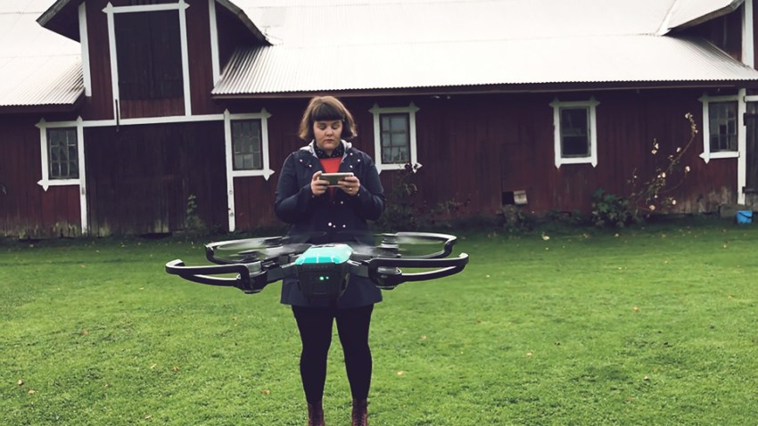 flyga drönare filma fota dji spark test