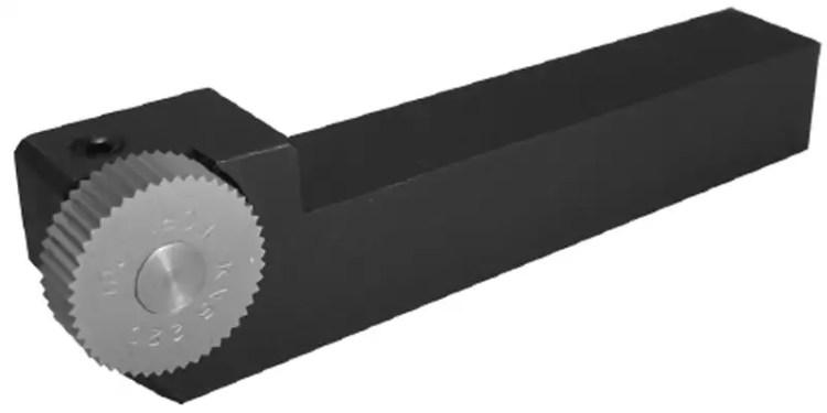 swiss straddle knurl tool holder