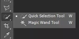 seleksi dengan Quick Selection Tool