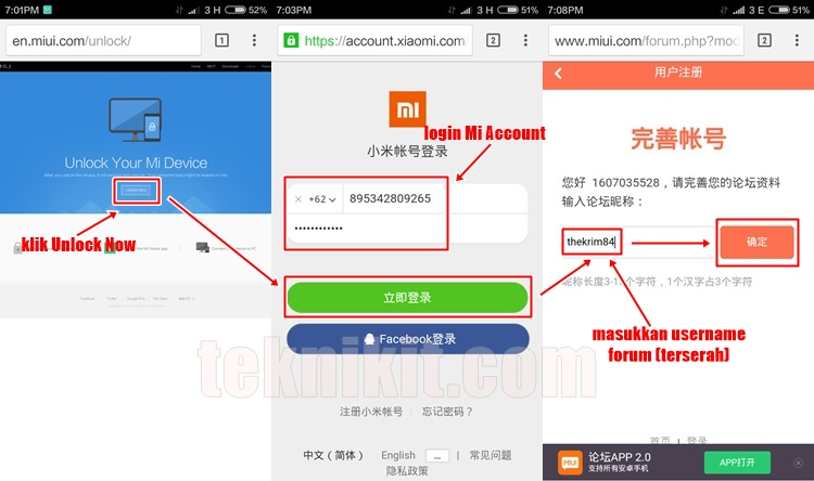 Cara Request Unlock Bootloader Redmi 3