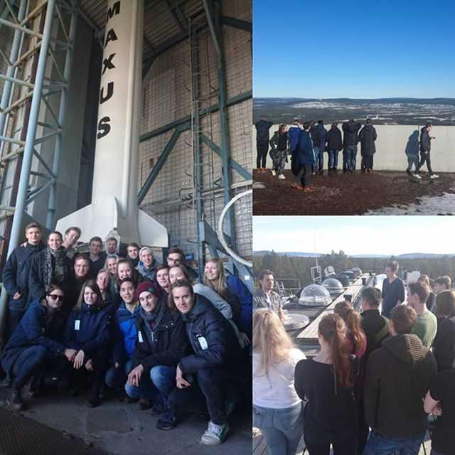 Idag har F13 besökt institutet för rymdfysik och kikat på hur man bygger mätinstrument för rymdmiljö, och hälsat på Esrange där vi lärt oss hur man parkerar en satellit i rymden. Väldigt intressant! #tekniskfysik #umu #fysikfamiljen