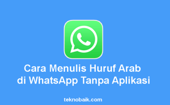 Menulis Huruf Arab di WhatsApp
