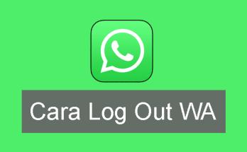 cara log out wa