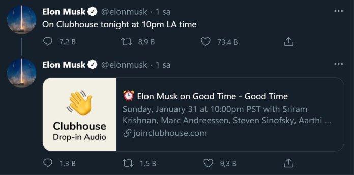 Elon Musk'ın Robinhood CEO'su ile Yaptığı Yayın, Clubhouse'a Akın Başlattı