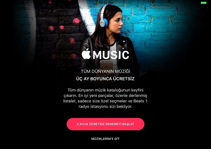 Apple Music Turkiye'de