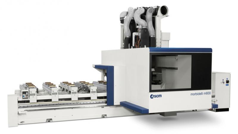 Обрабатывающий центр с ЧПУ для сверления и фрезерования MORBIDELLI M 800, производство SCM Италия