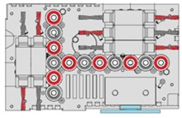 Обрабатывающий центр с ЧПУ Morbidelli M 100/200 F, производство SCM Италия, схема сверлильного блока F23L