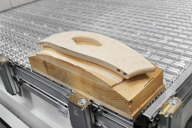 Оборудование для крепления рабочего стола станка ACCORD 30 FXM, производство SCM Италия