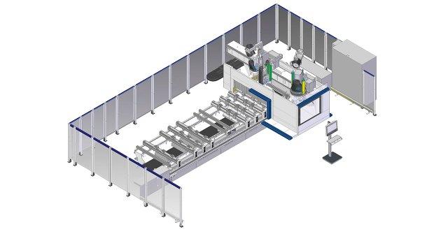 Схема обрабатывающего центра с ЧПУ ACCORD 42 FX, производство SCM Италия