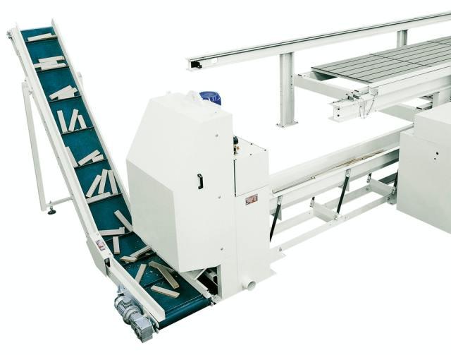 Автоматическое устройство для обработки обрезков углового раскроечного центра Gabbiani A3, производство SCM Италия