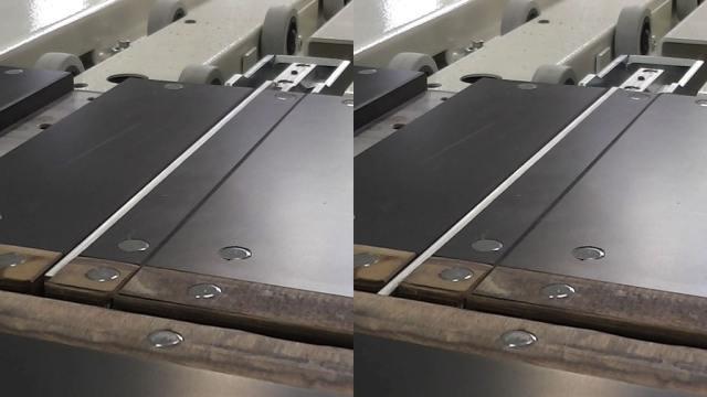 Автоматическое закрытие линии распила углового раскроечного центра Gabbiani A3, производство SCM Италия