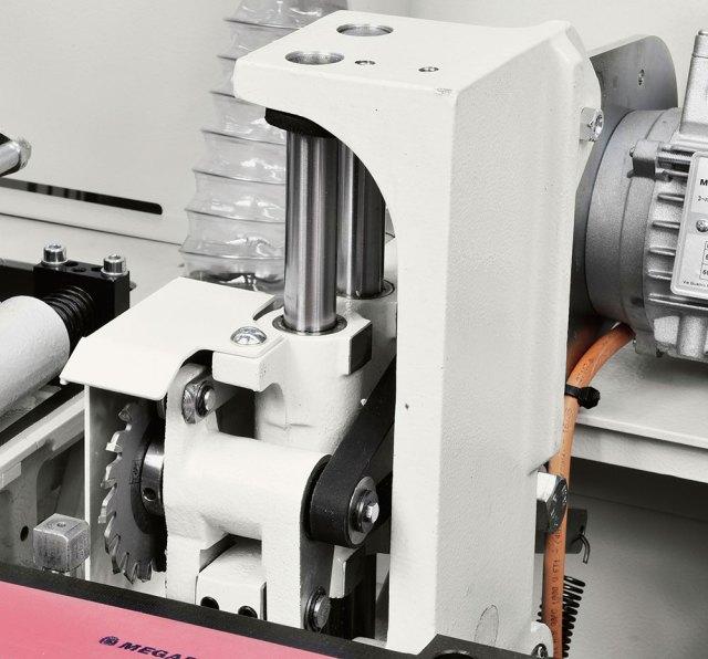 Группа снятия свесов кромкооблицовочного станка Minimax ME 25, производство SCM (Италия)
