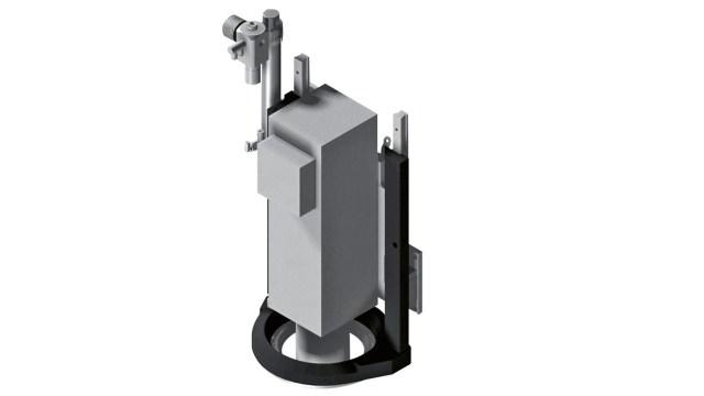 Коаксиальный механический прижим обрабатывающего центра с ЧПУ Morbidelli 400F, производство SCM Италия