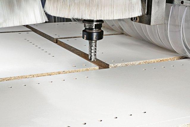 Нестинг на обрабатывающем центре с ЧПУ для сверления и фрезерования MORBIDELLI M 600/800F, производство SCM Италия