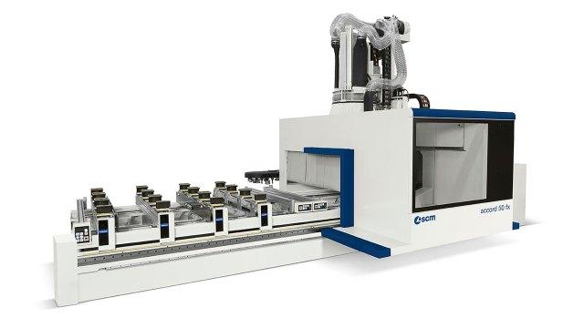 Обрабатывающий центр с ЧПУ ACCORD 50 FX c 5 осями и конструкцией в виде подвижного портала, производство SCM GROUP (Италия)