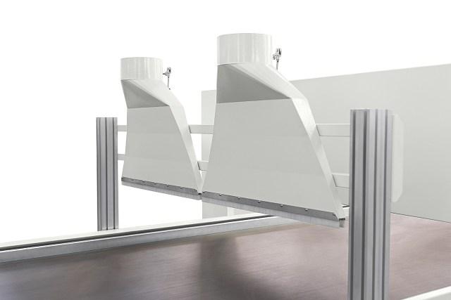 Система аспирации с верхним расположением для очистки рабочего стола Morbidelli N200, производство SCM (Италия)