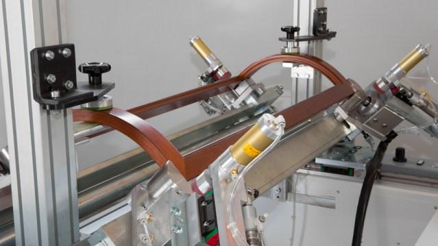Ручная вайма для сборки гнутых рамочных фасадов под углом 90° и 45° SFB 03 C, производство Fiorenza Италия