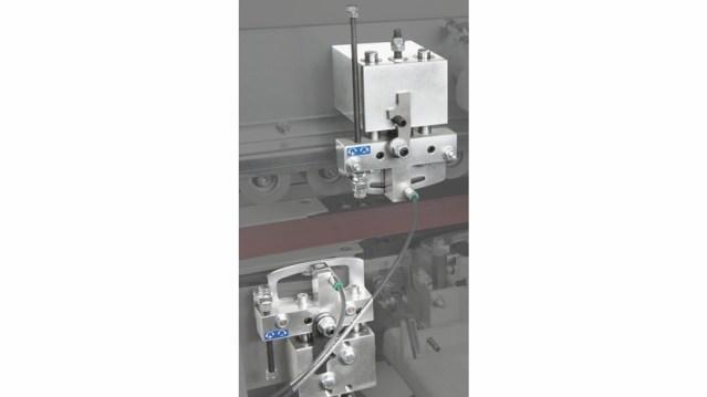Кромкооблицовочный станок Minimax 35 T, производство SCM Италия, клеево-скребковая группа