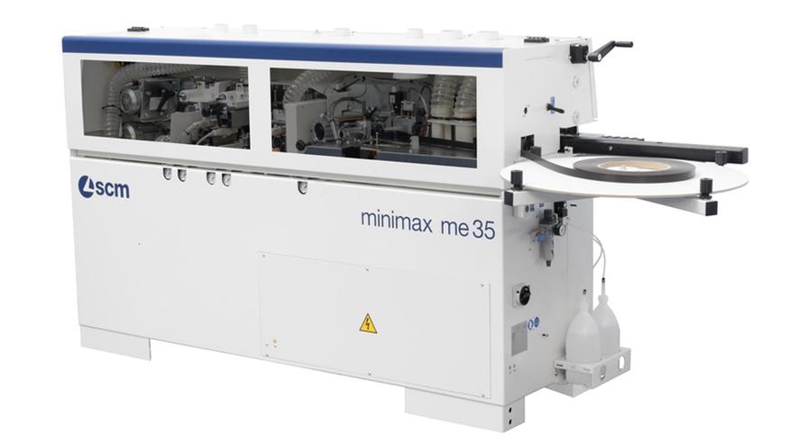 Задняя сторона кромкооблицовочного станка Minimax ME 35 TR, производство SCM Италия