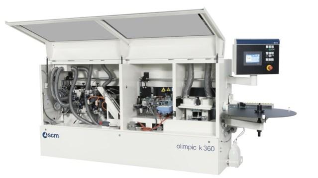 Кромкооблицовочный станок Olimpic K 360 в открытом виде, производство SCM Италия