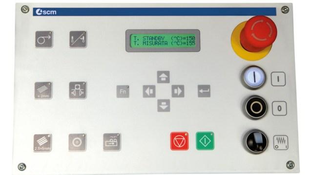 Управление кромкооблицовочного станка Olimpic K 100, производство SCM Италия