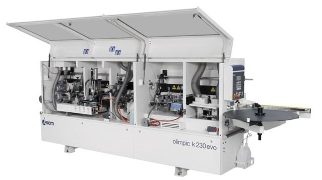 Кромкооблицовочный станок Olimpic K 230 EVO в открытом виде, производство SCM Италия