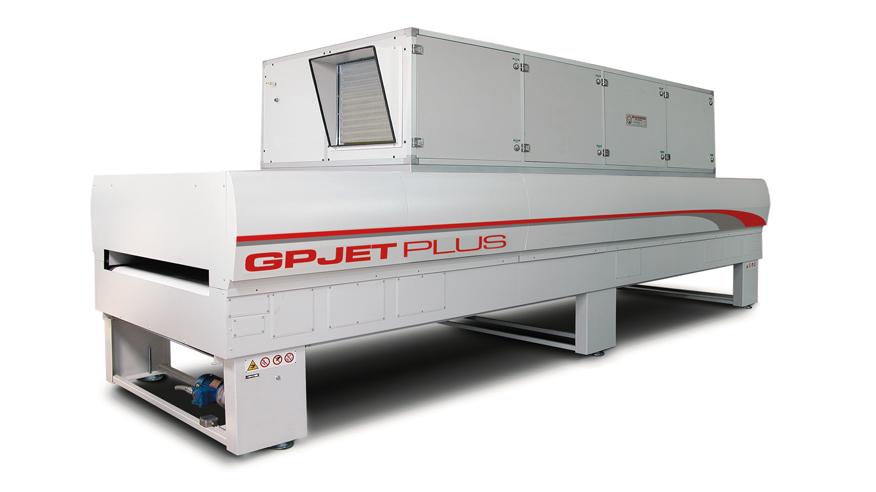 Туннель сушки форсированным потоком горячего воздуха GP JET, производство Giardina Group Италия