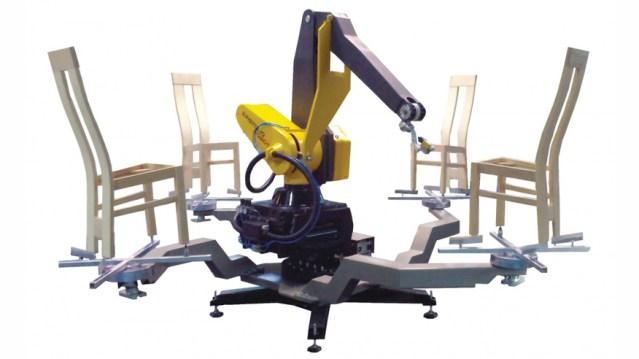 Атропоморфный робот для окраски стульев в сборе MRK 5.1-G3, производство Италия