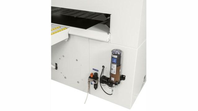 Автоматическая смазка обрабатывающего центра для сверления и распила с ЧПУ Startech CN Plus, производство SCM Италия
