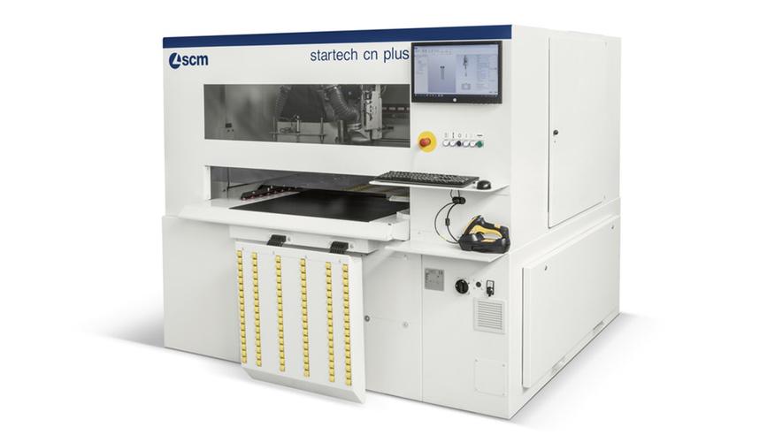 Универсальный обрабатывающий центр для сверления, распила и фрезерования с ЧПУ Startech CN Plus R, производство SCM Италия