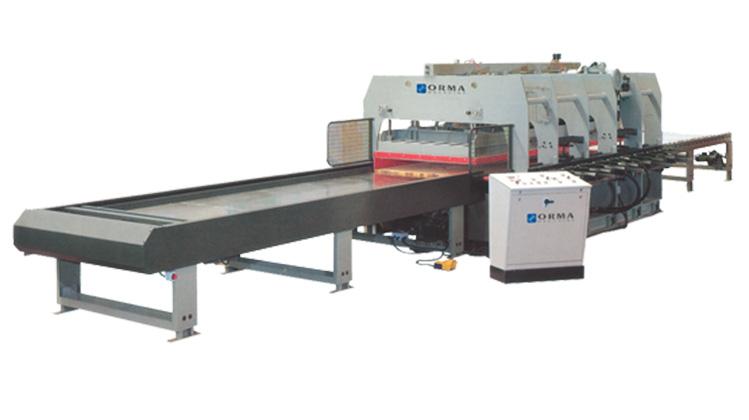 Линия для склейки деревянного бруса LSL, производство Orma Macchine Италия