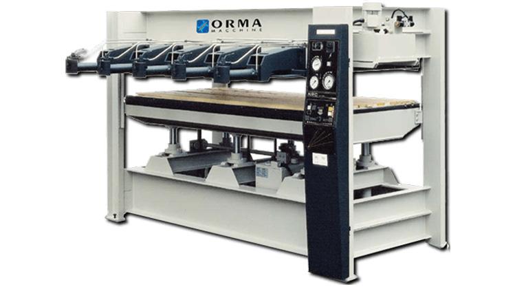 Пресс для мебельного щита NPC/L, производство ORMA Италия
