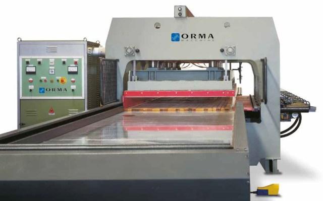 Пресс для склейки деревянного бруса LSL, производство Orma Macchine Италия