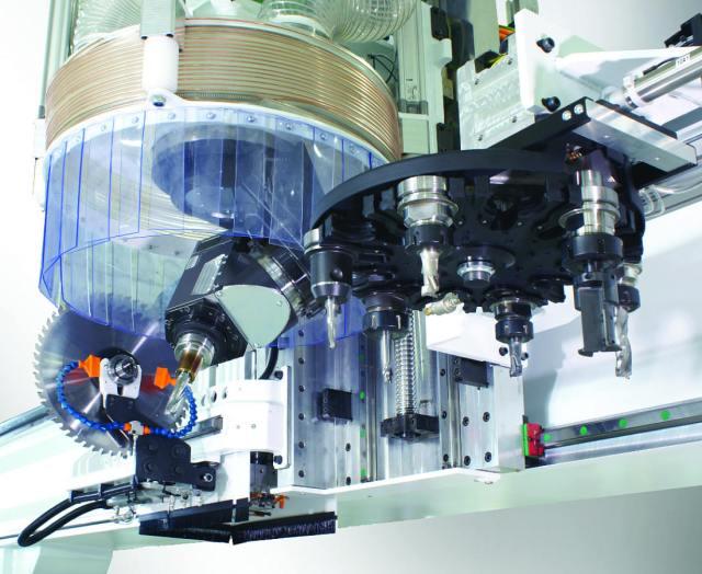5-осевая рабочая голова мод. R1CU обрабатывающего центра с ЧПУ ARGO, производство Greda Италия