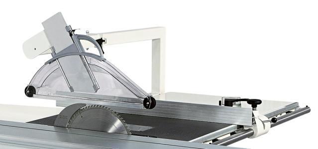 Верхняя защита пильного узла круглопильно-фрезерного станка Minimax ST 3C, производство SCM Италия