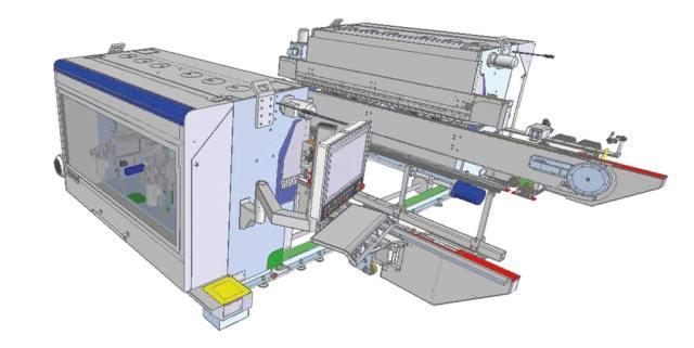 3D-визуализация станка Celaschi P 40, производство SCM Италия