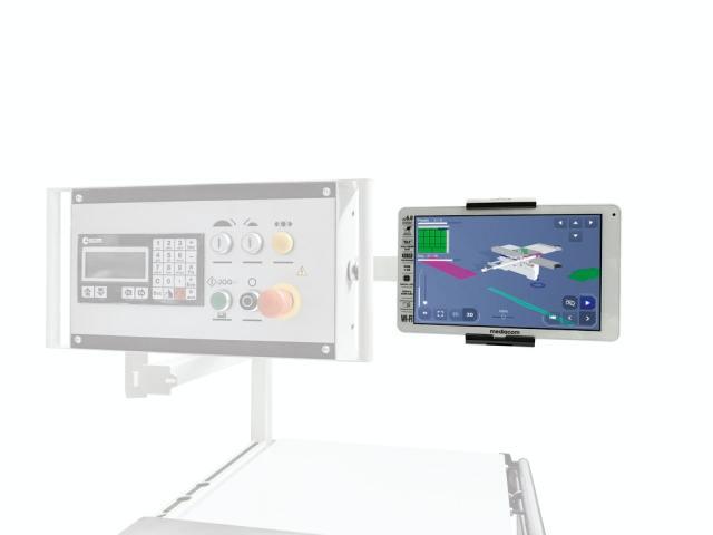 Регулируемый держатель планшета на мобильной панели управления станка Nova SI 400 EP, производство SCM (Италия)