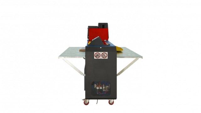 Вид сбоку станка для склейки коробок из гофрокартона Panotec E-GLUER (Италия)
