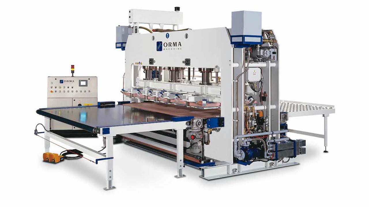 Воздушный пресс с двойной мембраной PCC 2M, производство ORMA Macchine (Италия)