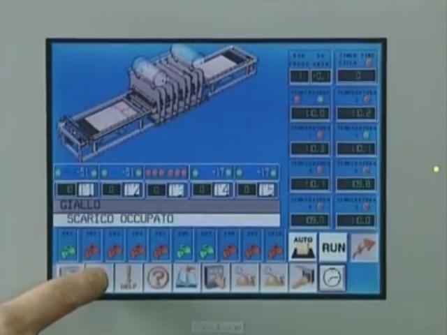 Сенсорный дисплей мембранного пресса AUTOMATION 3 TRAYS