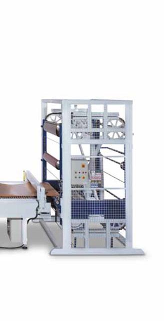 Вращающийся магазин для нескольких рулонов пленки ПВХ пресса AUTOMATION 1 TRAYS, производство ORMA Macchine (Италия)