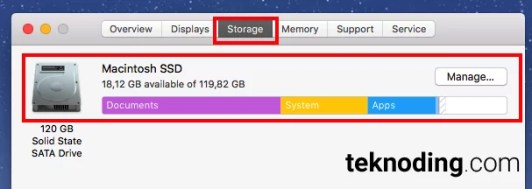About This Mac > Storage mac os x macbook imac