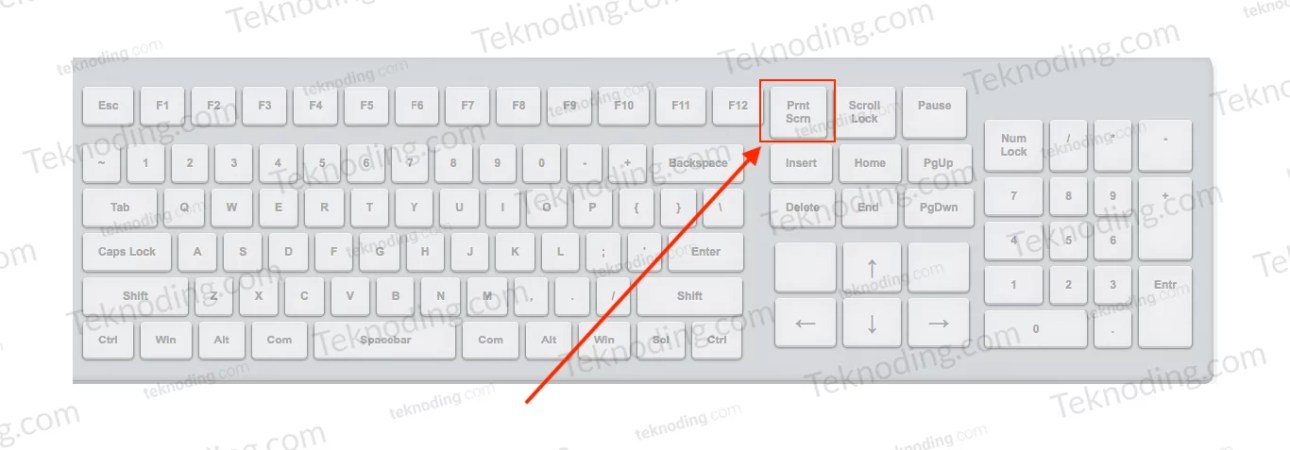 cara screenshot lewat tombol print screen keyboard