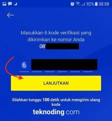 masukan kode verifikasi nomor xl