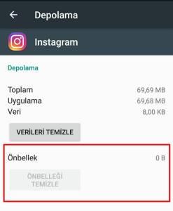 instagram arama geçmişi temizlenmiyor